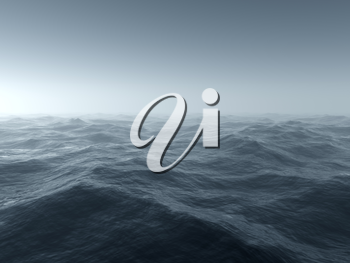 Royalty Free Clipart Image of a Background of Rough Water