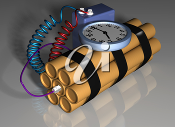 Illustration of a time bomb primed and ready for action