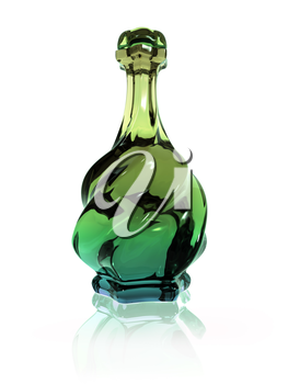 Illustration of a twisted glass bottle containing a magic potion