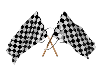 Checkered Flags.(Racing Checkered Flags Crossed, Finishing Checkered Flag)