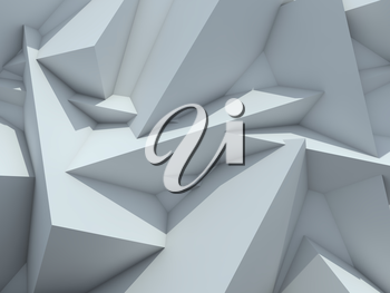 Crystallized Background. Abstract Futuristic Background.