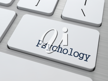 Psychology Concept. Button on Modern Computer Keyboard with Word Partners on It.