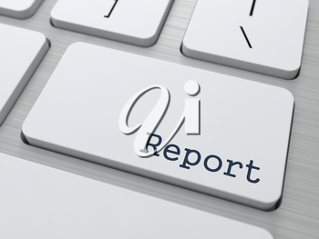 Report Concept. Button on Modern Computer Keyboard with Word Report on It.