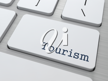 Tourism Concept. Button on Modern Computer Keyboard with Word Partners on It.