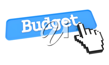 Budget Button with Hand Cursor. Business Concept.