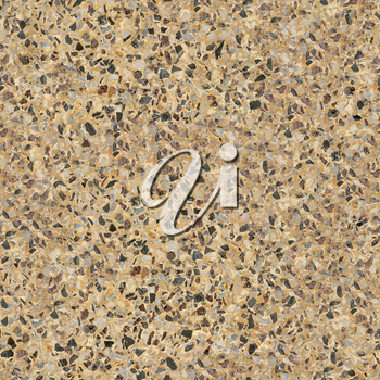 Seamless Tileable Texture of Polished Conctrete Surface Covered with Pebble Stones.
