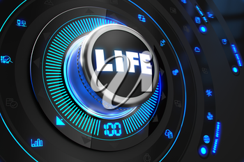 Royalty Free Clipart Image of a Life Button