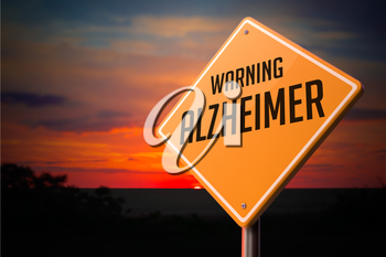 Royalty Free Clipart Image of an Alzheimer Warning Sign
