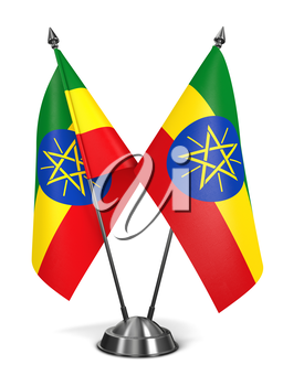 Royalty Free Clipart Image of Ethiopia Miniature Flags