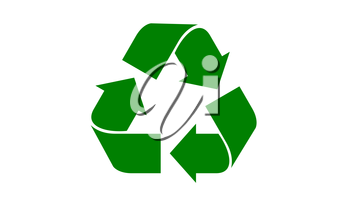 Universal recycle icon with a green color.