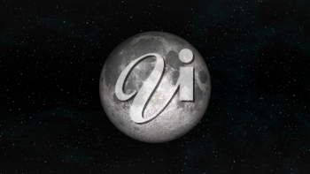 Full Moon on a background of stars. Digital illustration. Moon texture is public domain provided by NASA.
