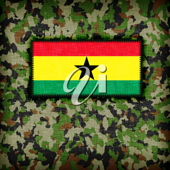 Amy camouflage uniform with flag on it, Ghana