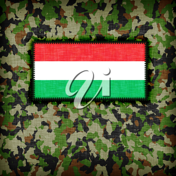 Amy camouflage uniform with flag on it, Hungary