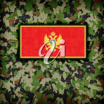 Amy camouflage uniform with flag on it, Montenegro