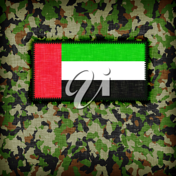 Amy camouflage uniform with flag on it, UAE