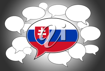 Communication concept - Speech cloud, the voice of Slovakia
