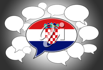 Communication concept - Speech cloud, the voice of Croatia