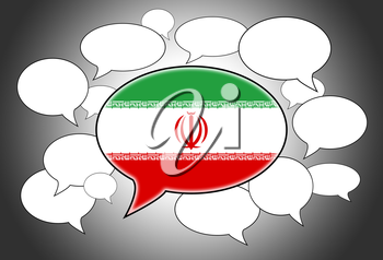 Communication concept - Speech cloud, the voice of Iran