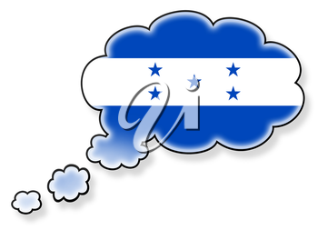Flag in the cloud, isolated on white background, flag of Honduras