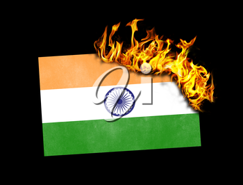 Flag burning - concept of war or crisis - India