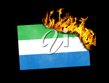 Flag burning - concept of war or crisis - Sierra Leone