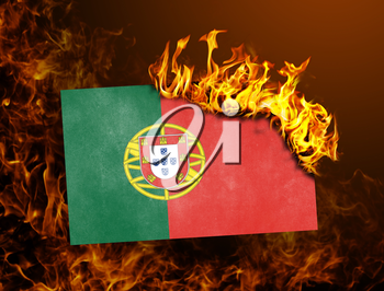 Flag burning - concept of war or crisis - Portugal