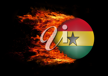 Concept of speed - Flag with a trail of fire - Ghana