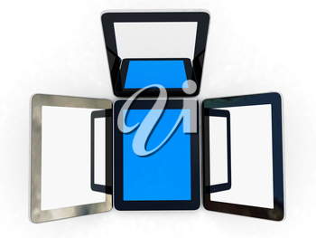 tablet pc on a white background