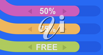 Set of colorful ribbons discount background