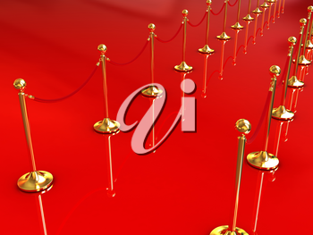 3d illustration of path to the success