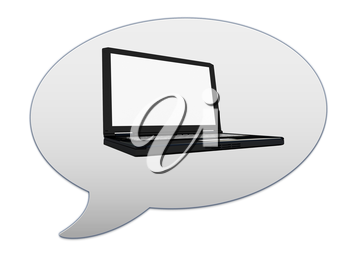 messenger window icon and Laptop Computer PC