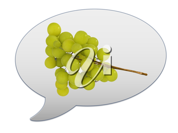 messenger window icon and Grapes