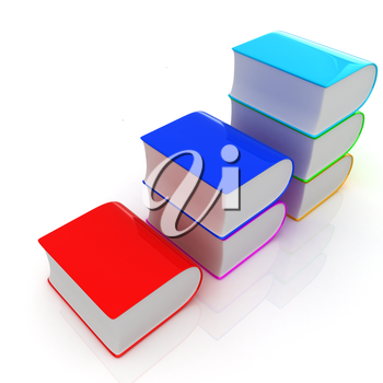 Glossy Books Icon isolated on a white background