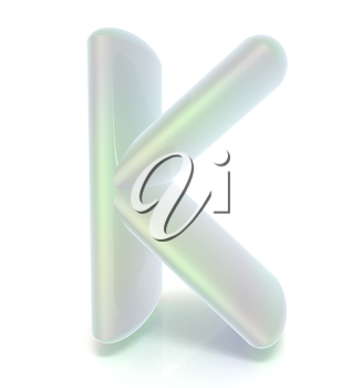Glossy alphabet. The letter K