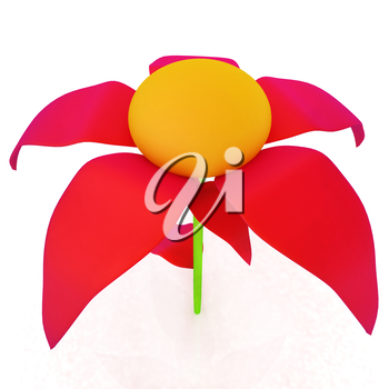 Flower icon 3d
