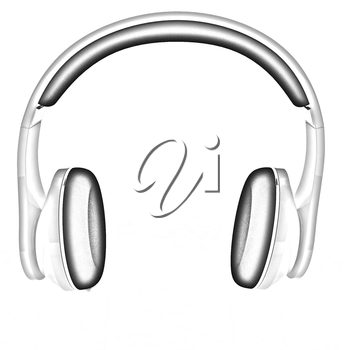 Blue headphones icon on a white background