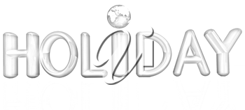 3d colorful text holiday on a white background
