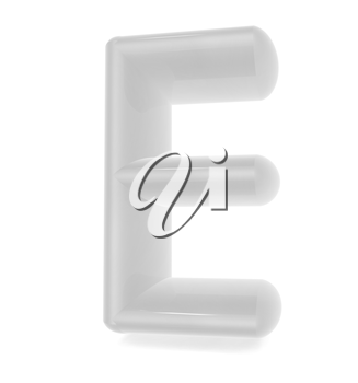 Glossy alphabet. The letter E