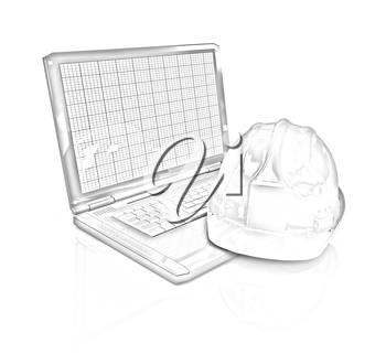 Technical engineer concept on a white background