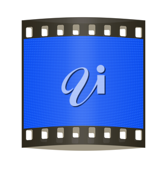 Optical illusion.Blue abstract background. 3d render. The film strip