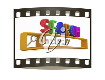 3d internet search string.Business and technology on a white background. The film strip