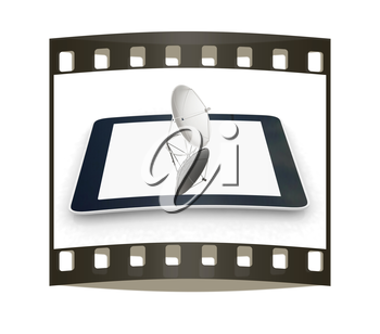 The concept of mobile high-speed Internet on a white background. The film strip