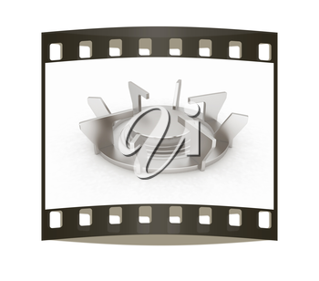 3d Gas Ring on a white background. The film strip