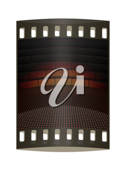Modern abstract scene with tribune. The film strip