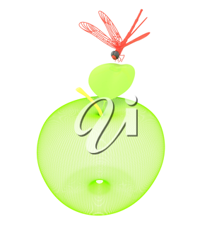 Dragonfly on apple