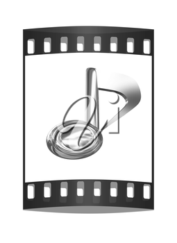 Music note on a white background. The film strip