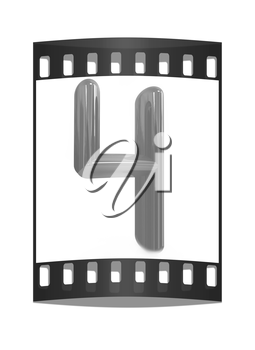 Number 4- four on white background. The film strip