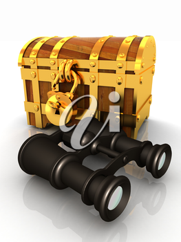 binoculars and chest
