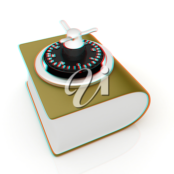 Information security concept. . 3D illustration. Anaglyph. View with red/cyan glasses to see in 3D.