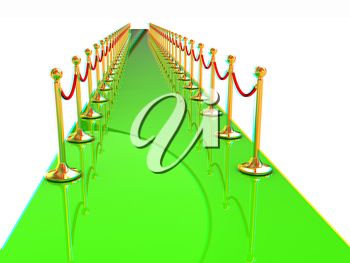3d illustration of path to the success. 3D illustration. Anaglyph. View with red/cyan glasses to see in 3D.